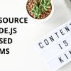 Open Source Node.Js Based CMS